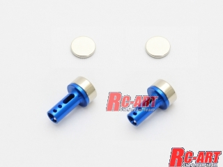ART2146 5mm alu. body mount cap (Magnet) Blue