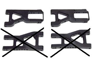 TP-2530F High traction suspension arms + 3mm Front set