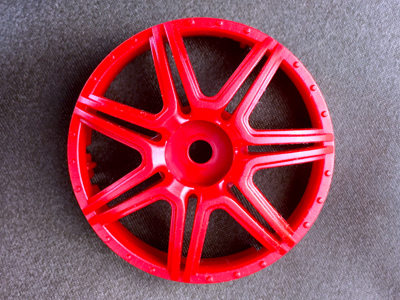 "TT-7582 ""Super RIM"" DISC ""Marguerite"" Hot Red 2pcs"