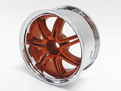 TT-7656 Super RIM Marguerite set crome and Orange metallic (4set