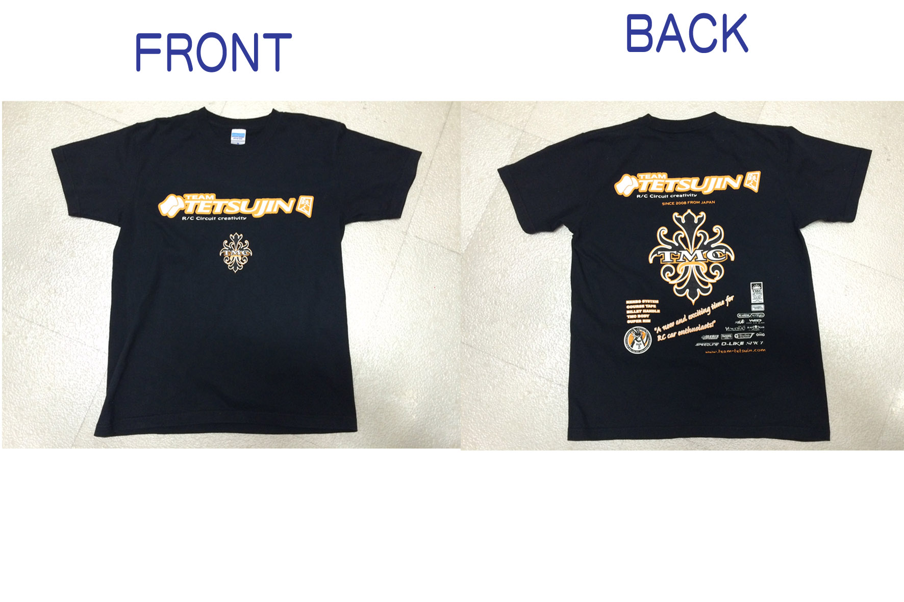 TT-7480 Team-TETSUJIN T-shirt Size.XL