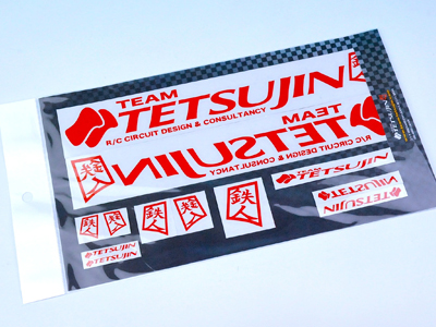 TT-7341 TETSUJIN Decal set for Body - RED