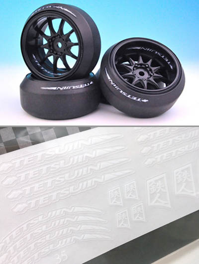 TT-7455 TETSUJIN White Decal for Tire