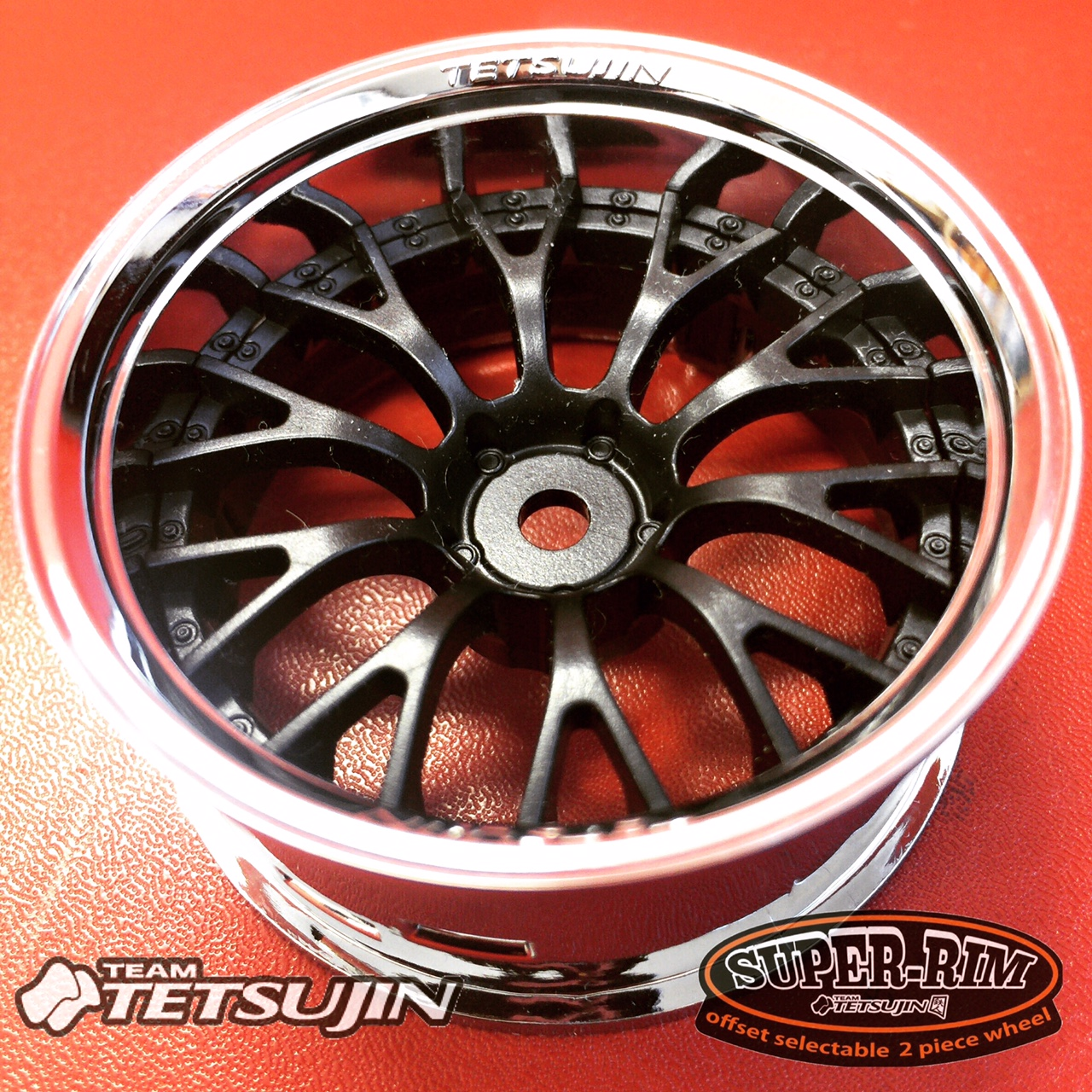 TT-7657 Super RIM Chrome and Black Daisy 2pcs set