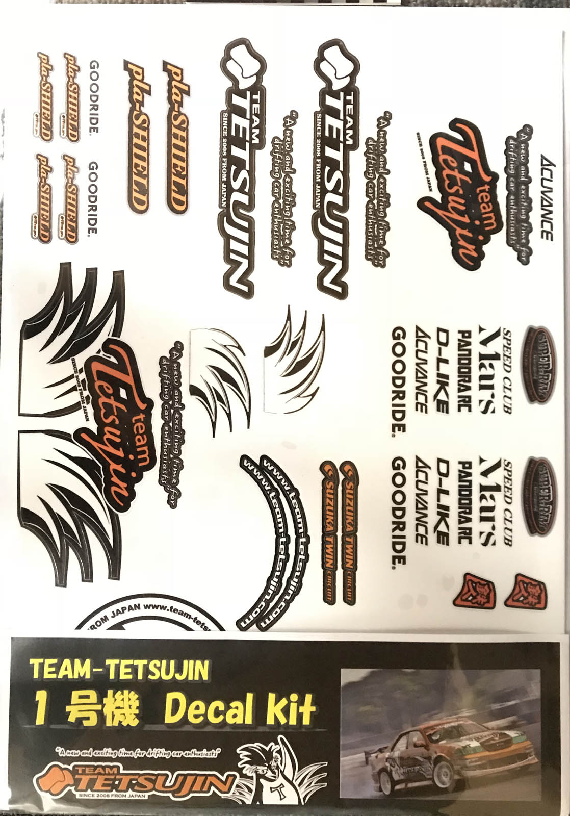 TT-7911 TETSUJIN Body Decal set No1 for 1-gouki JZX10 MARK2